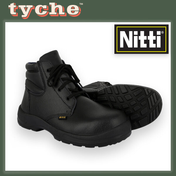 Nitti Mens Safety Shoe Mid-Cut Genuine Leather Model 22281