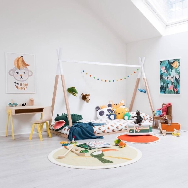 new nordic ins wind solid wood baby children frame bed children room decor