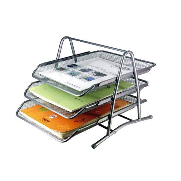 HERE 3 Layers Paper Tray Kraft Paper Files Documents Storage Rack Desktop Holder