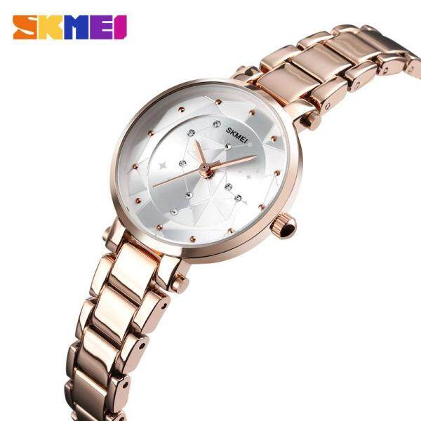 SKMEI New Women Fashion Quartz Watch Casual Waterproof Wristwatches Elegant Alloy Simple Ladies Quartz Watch Female Clock 1411 Malaysia