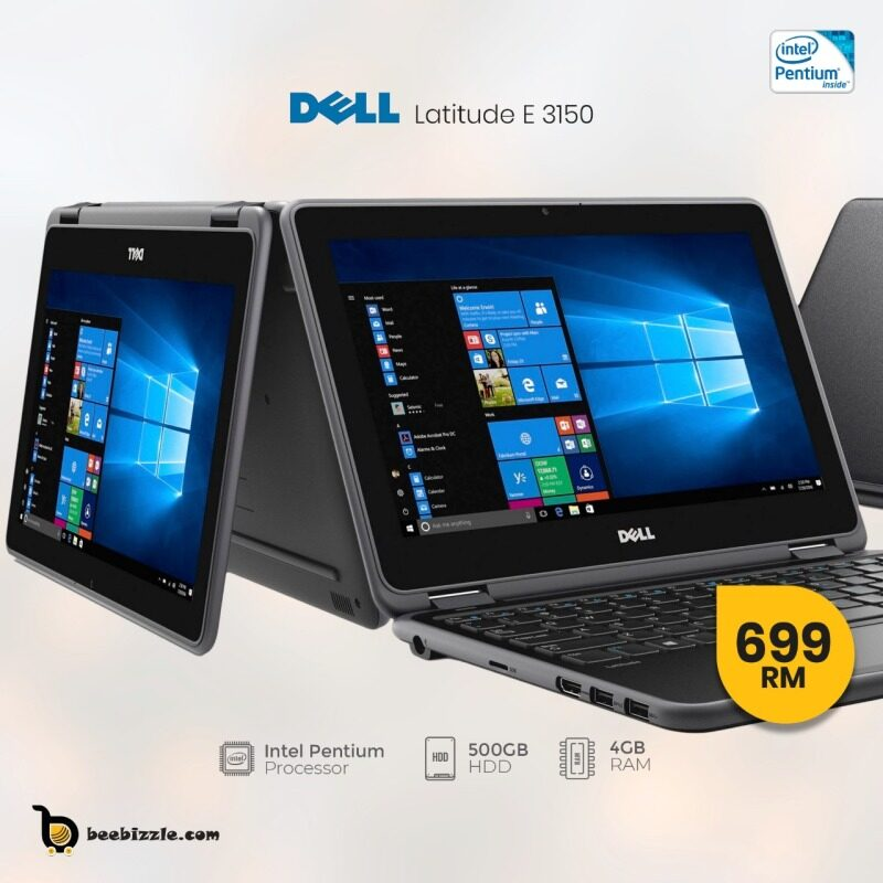 DELL LATITUDE 3150 LAPTOP, 4GB RAM, 500 GB HDD, WEBCAM, WINDOWS 10,13.1 INCH AND MORE.. Malaysia