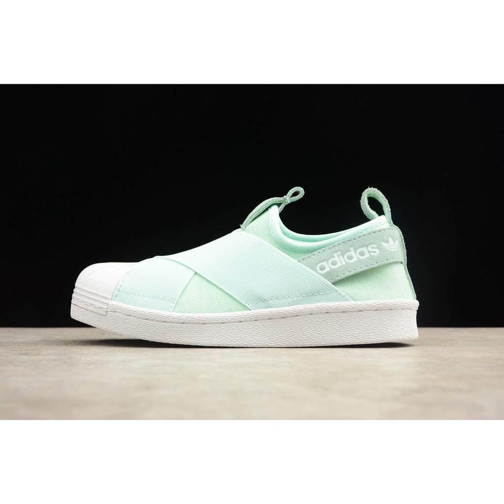 original adidas superstar slipon m moss green women outdoor sport shoe size36-39