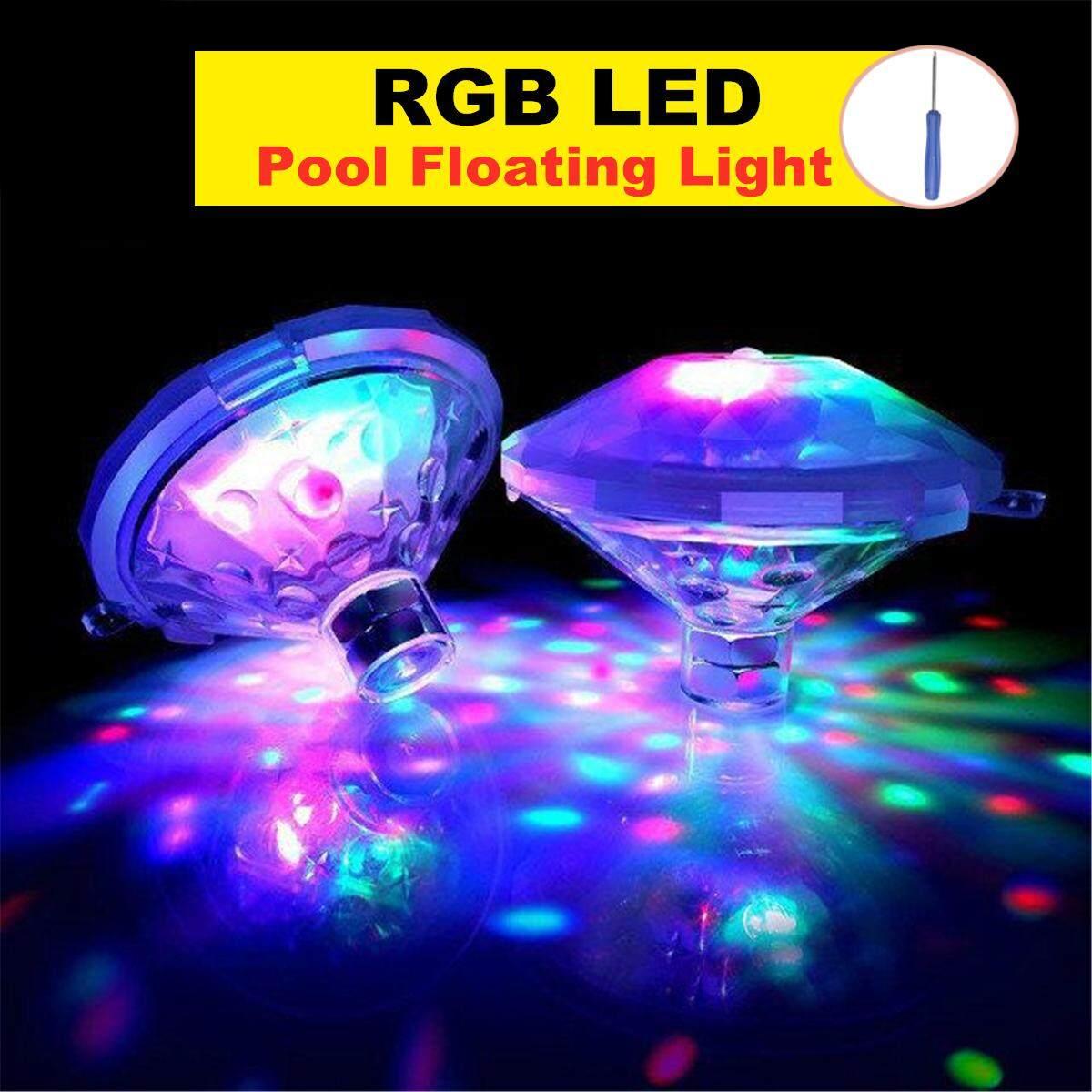 Floating RGB LED Disco Light Glow Swimming Pool Baby Children Toy Tub Spa Lamp
