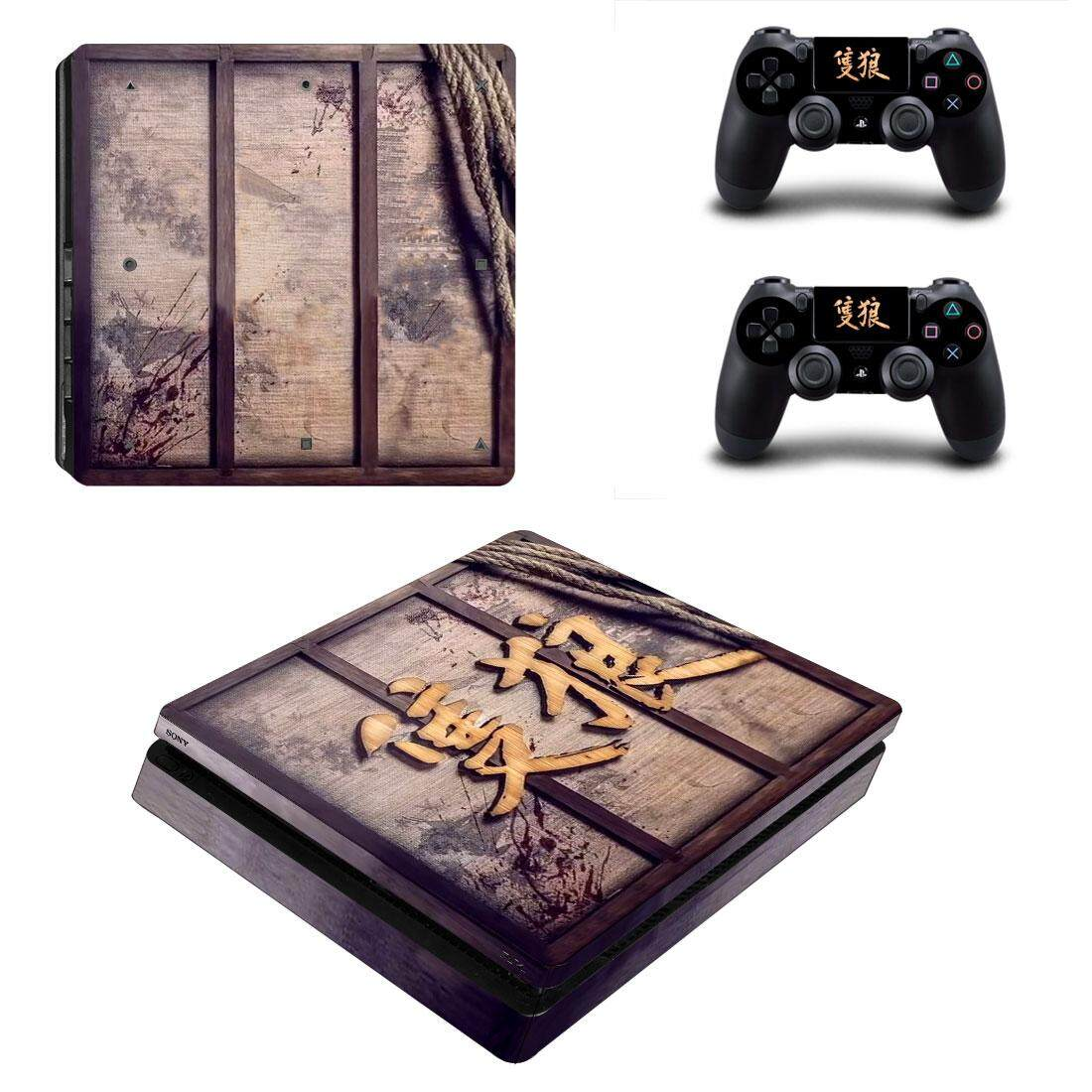 SEKIRO Style Skin Sticker for PS4 Slim Console And Controllers Decal Vinyl  Skins Cover Game Accessories YSP4S-3452