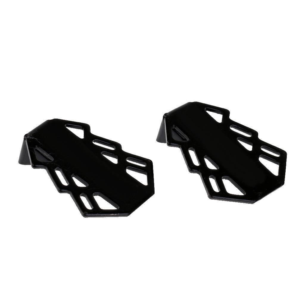 Aternee 1 Pasang Sepeda Stanless Steel Pedal Belakang Logam Sandaran Kaki Set Belakang Sandaran Kaki Bracket Untuk Axle Sepeda Gunung Penopang Bersepeda Naik Footpegs By Aternee