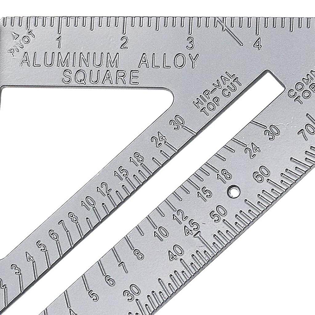 BolehDeals Professional Measuring Square Triangle Ruler Miter 90 Degree Metric 7inch