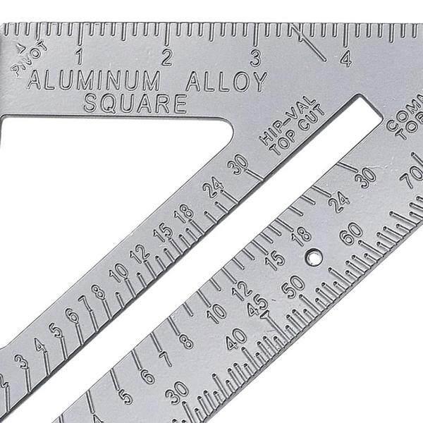 BolehDeals Professional Measuring Square Triangle Ruler Miter 90 Degree Metric 7inch