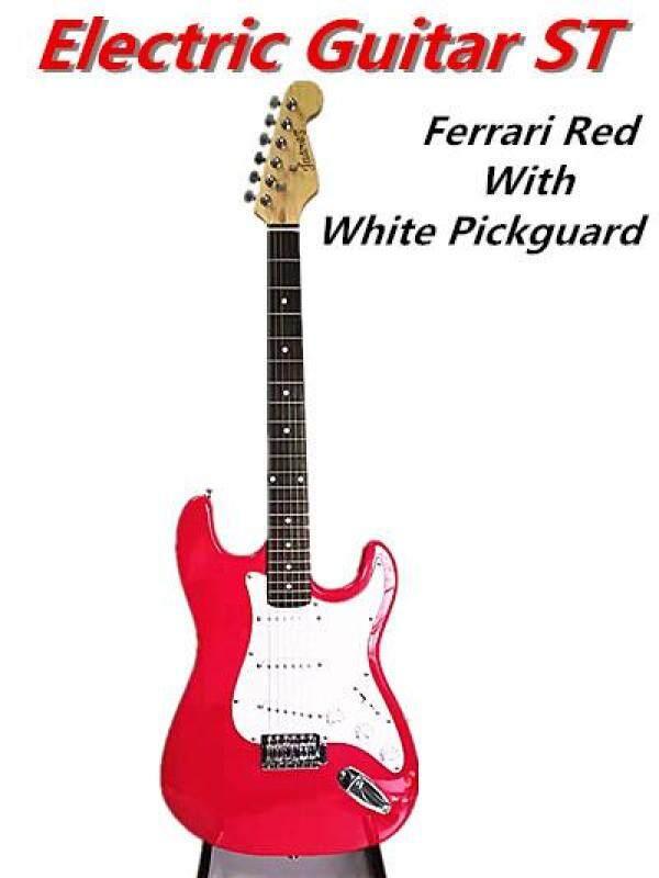 Electric Guitar Strat Basswood Body Rosewood Fingerboard ST Guitar Ferrari Red Malaysia
