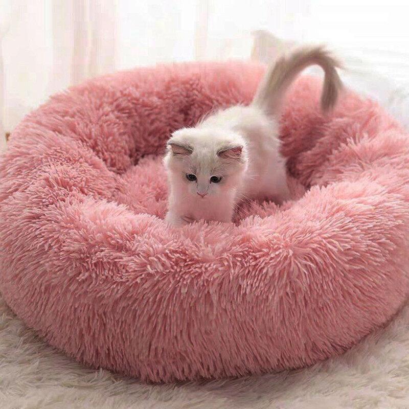 Túi Ngủ Giữ Ấm Hình Tròn Cho Chó Mèo, Giường Ngủ Êm Ái Bằng Vải Lông Dài Mềm Mại Cho Thú Cưng Có Xu Hướng Mới Nhất