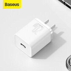 Sạc Nhanh Baseus Super Si USB C 20W, Cho iPhone 12 Pro Max, Hỗ Trợ Sạc Điện Thoại Di Động Sạc Nhanh Type C PD Forip 11 Pro Max