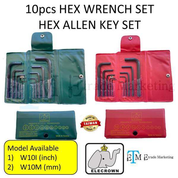 ELECROWN HEX WRENCH SET HEX ALLEN KEY SET mm & inch (MADE IN TAIWAN)