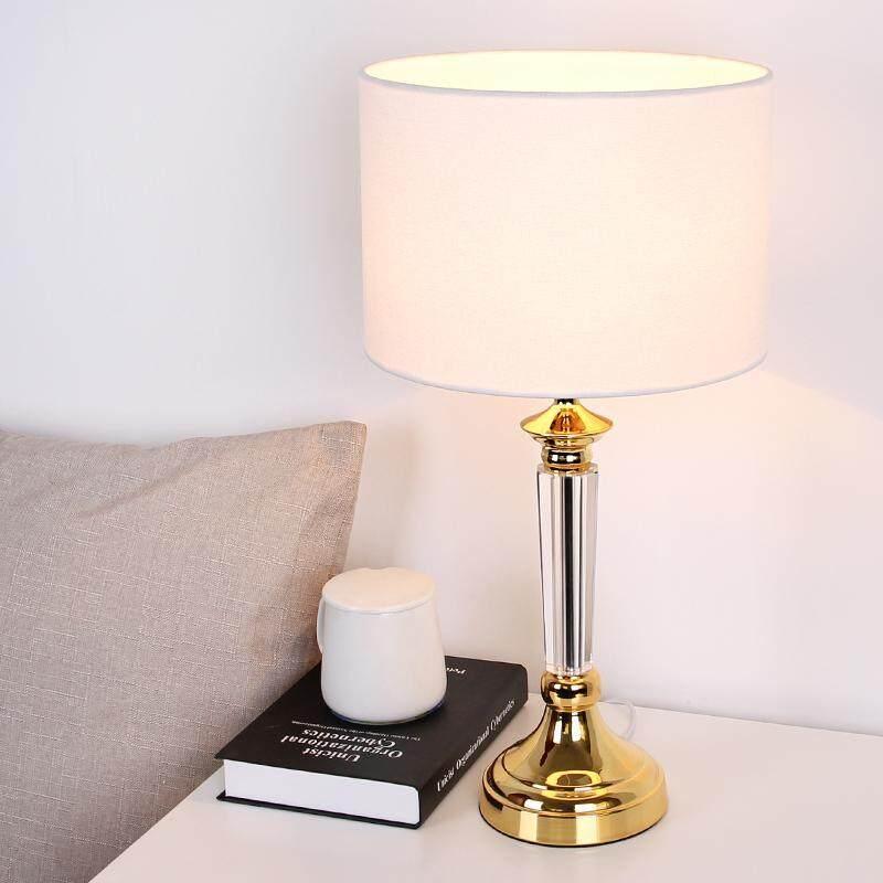 European-style Crystal Table Lamp Bedroom Bedside Lamp Modern Simple Decorative Lights Creative (50*26cm)