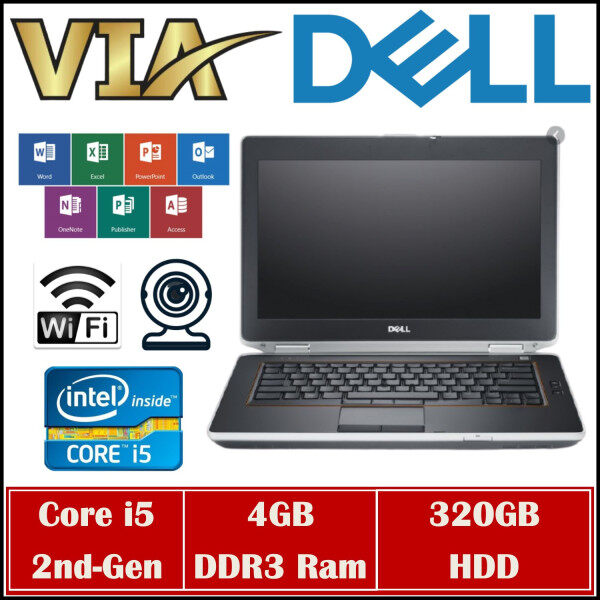 【HDMI】BUSINESS NOTEBOOK DELL E6420~CORE i5-2nd GEN~4GB RAM~320GB HDD~WINDOWS 10 Malaysia