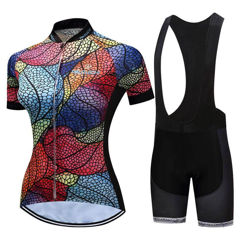 d8bdaf265 Summer Short Sleeve Cycling Set Mountain Bike Clothing Breathable Bicycle  Jersey