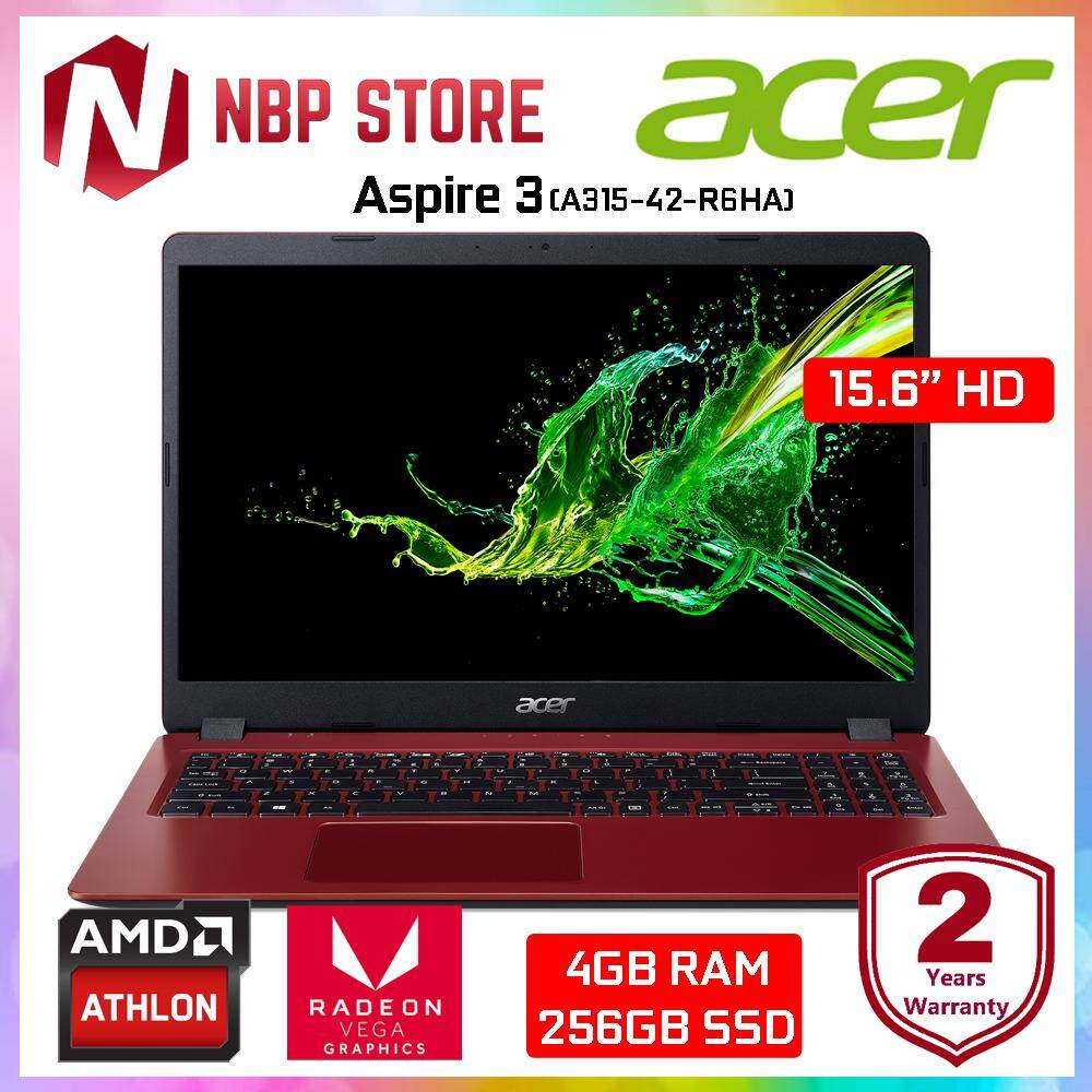 Acer Aspire 3 A315-42-R6HA 15.6  Laptop Rococo Red ( Athlon 300U, 4GB, 256GB SSD, ATI, W10 ) Malaysia