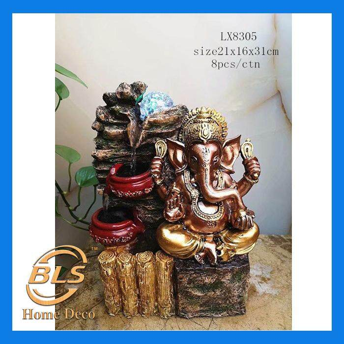 WATER FOUNTAIN GANESHA 8035 WATER FEATURE FENG SHUI HOME DECORATION