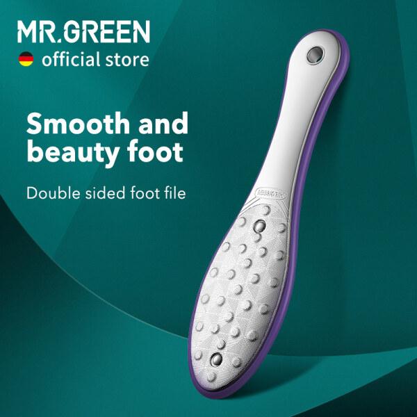 MR.GREEN Foot Rasps Dụng Cụ Chà Chân Loại Bỏ Vết Chai Dụng Cụ Chăm Sóc Chân Chuyên Nghiệp Đôi Bằng Thép Không Gỉ Bên Da Chết Móng Chân Rasp