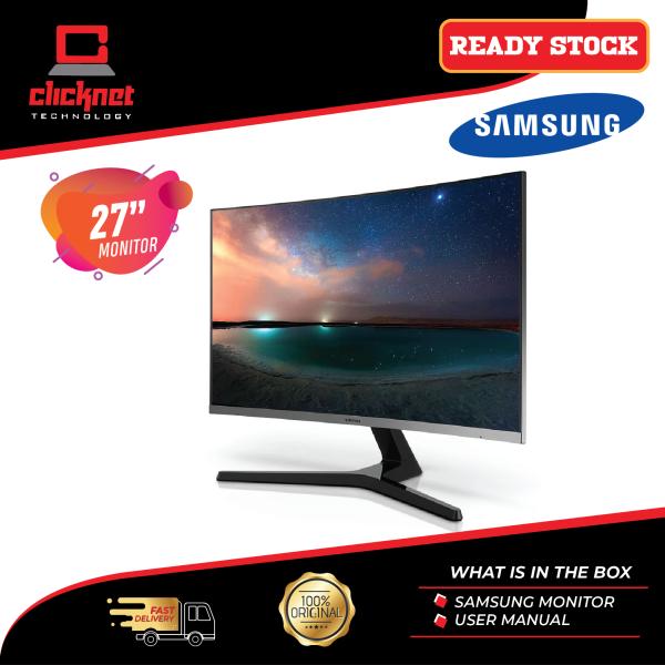 Samsung Monitor 27-Inch Curved LC27R500FHEXXM Black (FHD, VGA, VA Panel, 4ms, 1800R, Curved, HDMI, VESA, FreeSync) Malaysia