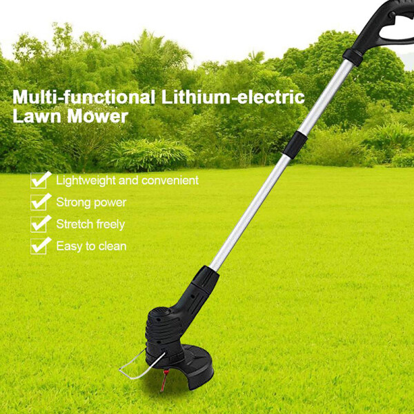 ABC Electric Lawn Mower Cordless Grass Trimmer Auto Release String Cutter Pruning