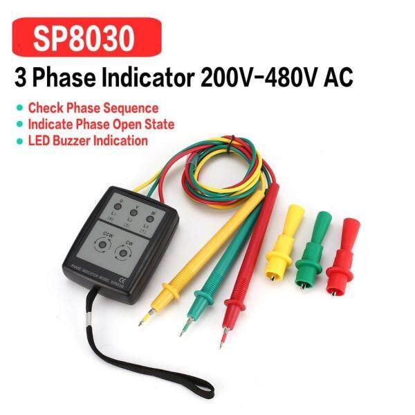 【2 Items FREE SHIPPING】 Cozy SP8030 3 Phase Rotation Sequence Indicator Meter test*r Detector 200V-480V
