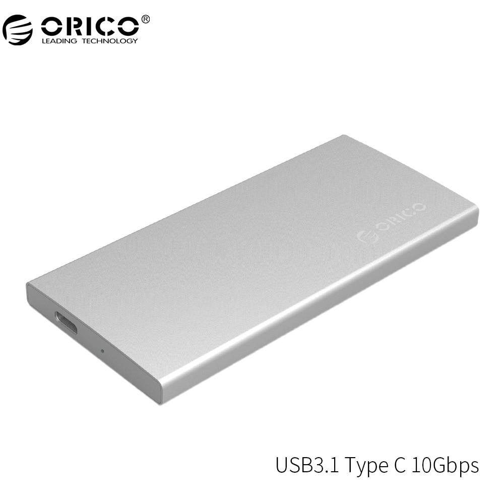 ORICO DM2-RC3 USB3.1 Type-C External Hard Drive Enclosur Gen2 10Gbps Aluminum Dual-bay Support RAID 0 PM Mode with Type-C cable