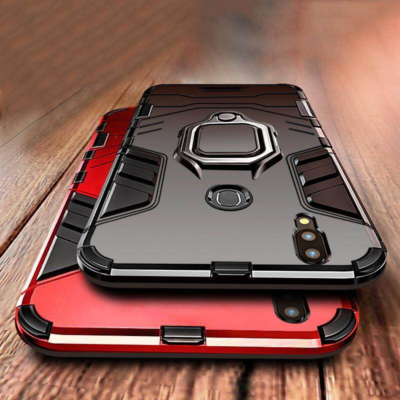 For Huawei Nova 3i Shockproof Bracket Magnet Suction KickStand 360 Ring Holder Hard Car Phone Case