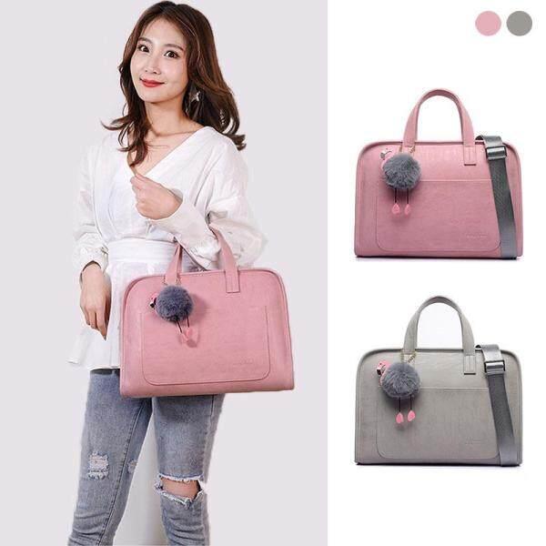 Fashion PU Women Laptop briefcase Large Capacity laptop bag Case Bag for Notebook Handbag shoulder bag 12 13.3  14 15.4  15.6 inch