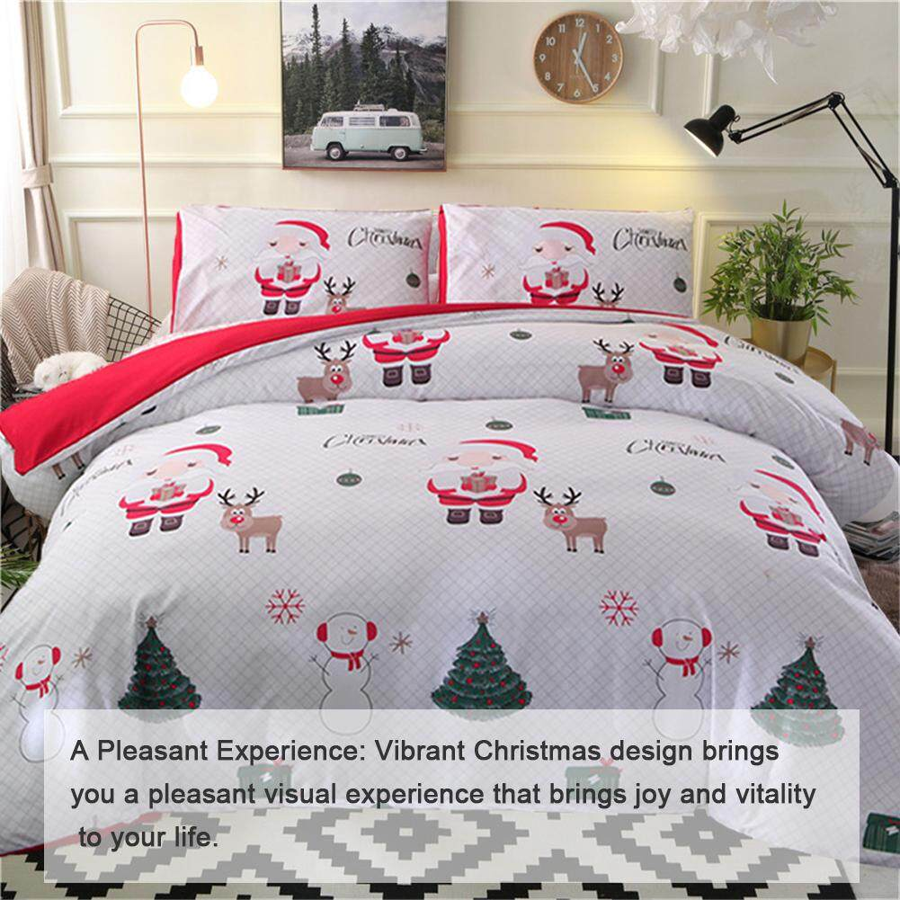 Soft and comfortable, not easy to fade, not easy to pilling, three sets of Santa Claus bed