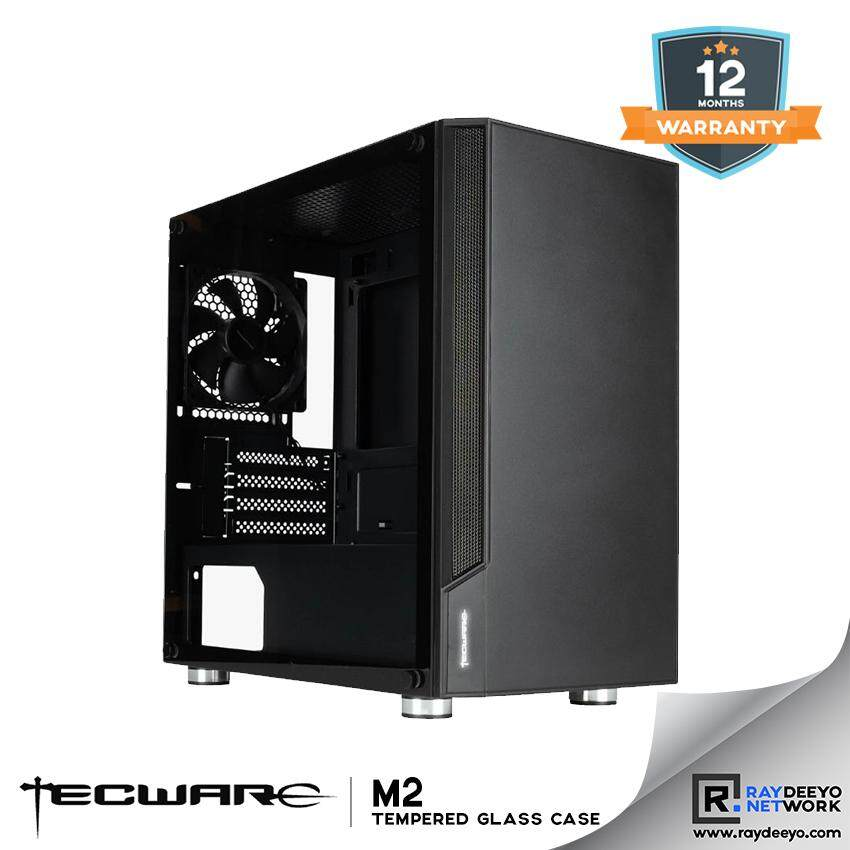 TECWARE M2 TG MATX GAMING CASE (WITH ILlUMINATED LOGO) [Matx, Mini-ITX] Malaysia