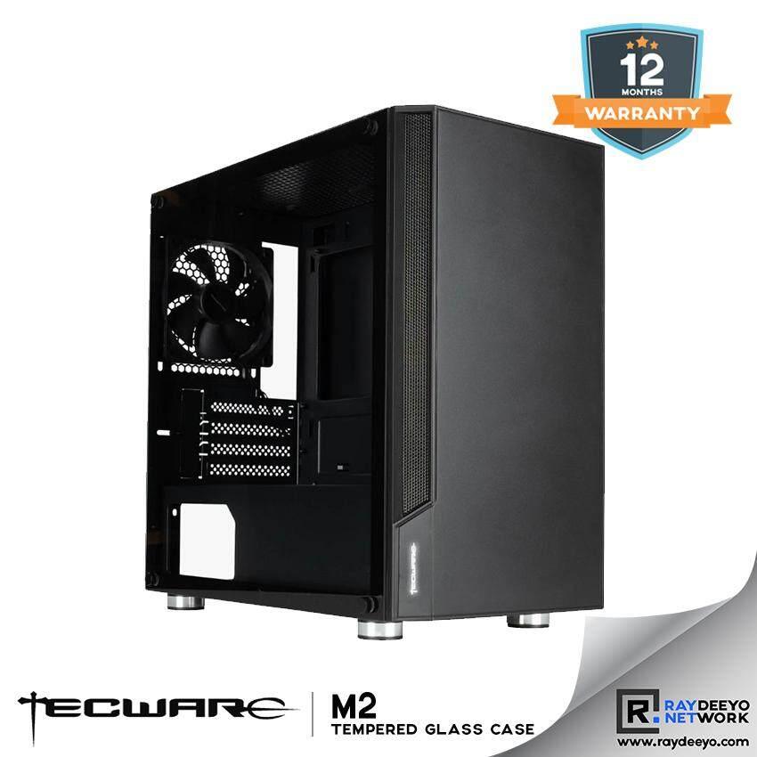 TECWARE M2 TG MATX GAMING CASE (WITH ILlUMINATED LOGO) [Matx, Mini-ITX] Malaysia