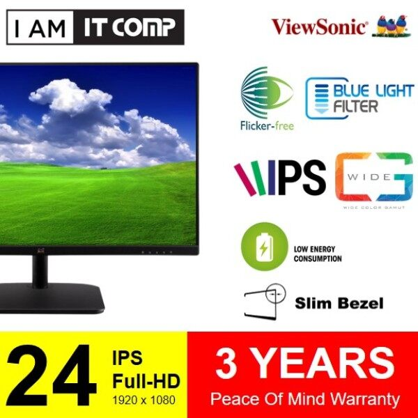 ViewSonic VA2419-SH / VA2432-H 24 SuperClear® AH-IPS frameless HDMI Full HD Monitor (VA2432/VA2419) Malaysia