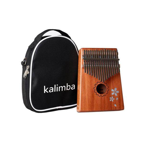 Đàn kalimba Đàn kalimba full phụ kiện Kalimba rẻ Bộ đàn kalimba 17 phím dành cho đàn piano, đàn mbira calimba 17 phím, đàn piano gỗ gụ Châu Phi, nhạc cụ gỗ với búa chỉnh đàn/nhãn dán/Túi/vải lau