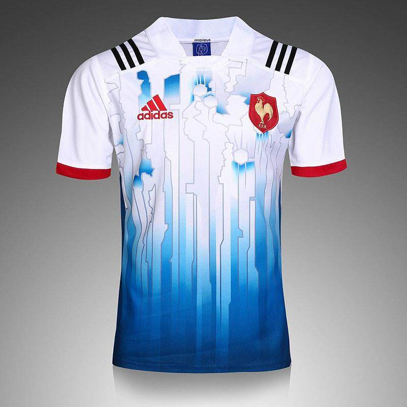 competitive price 17afc c6421 2017 The French National Team Football Team White Blue Rooster Rugby  Training Suit Short Sleeved Clothes Size:S-3XL