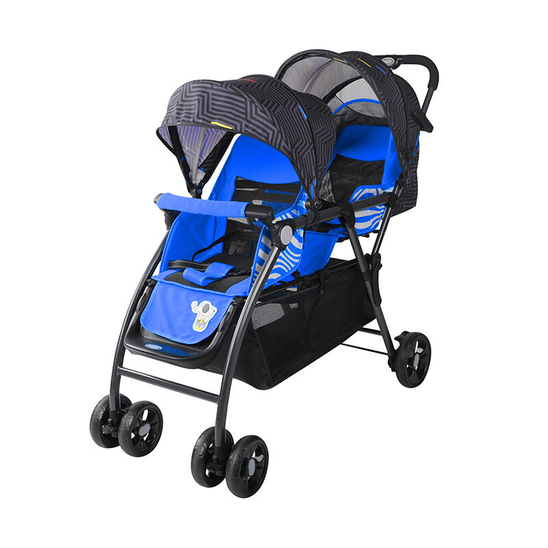 BaoBaoHao Baby Twins Stroller One hand Folded Small Size Folded Baby Twin Stroller +Free Mystery Gift Singapore