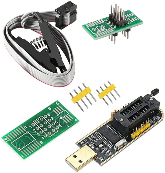 USB - CH341A USB Programmer Flash for Most of 24 25 Series EEPROM BIOS Chip - Malaysia Stock same day shipping