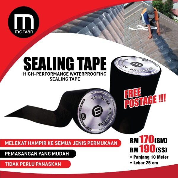 Sealing Tape Morvan Tape Anti Bocor Perabung Bumbung Bitumen