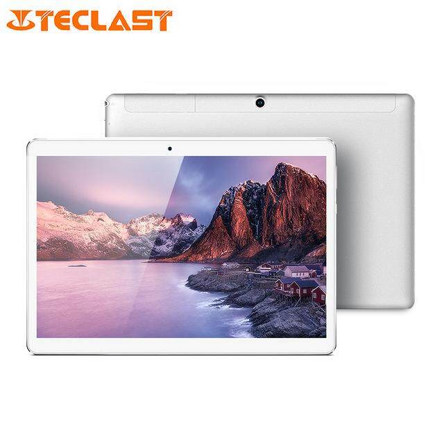 (2GB RAM 16GB ROM)Original Teclast A10H Tablet PC 10.1 inch Android 7.0 MTK8163 Quad Core 1.3GHz 2.0MP + 0.3MP Double Cameras Dual WiFi -PLATINUM