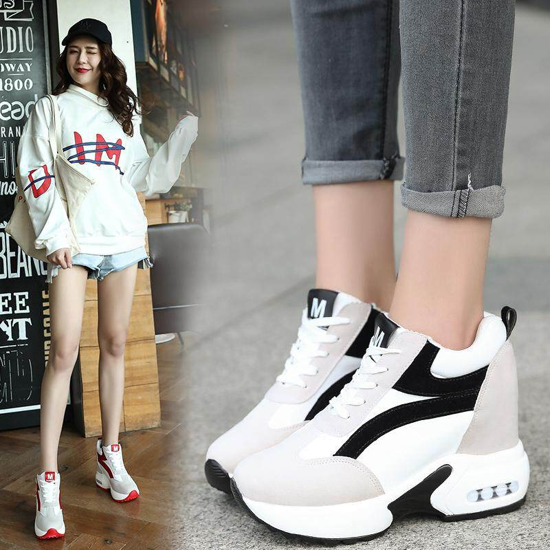 50544c3078 Philippines. Womens increase Platform Wedge Heel Lace up Sneakers Trainers  sport Shoes