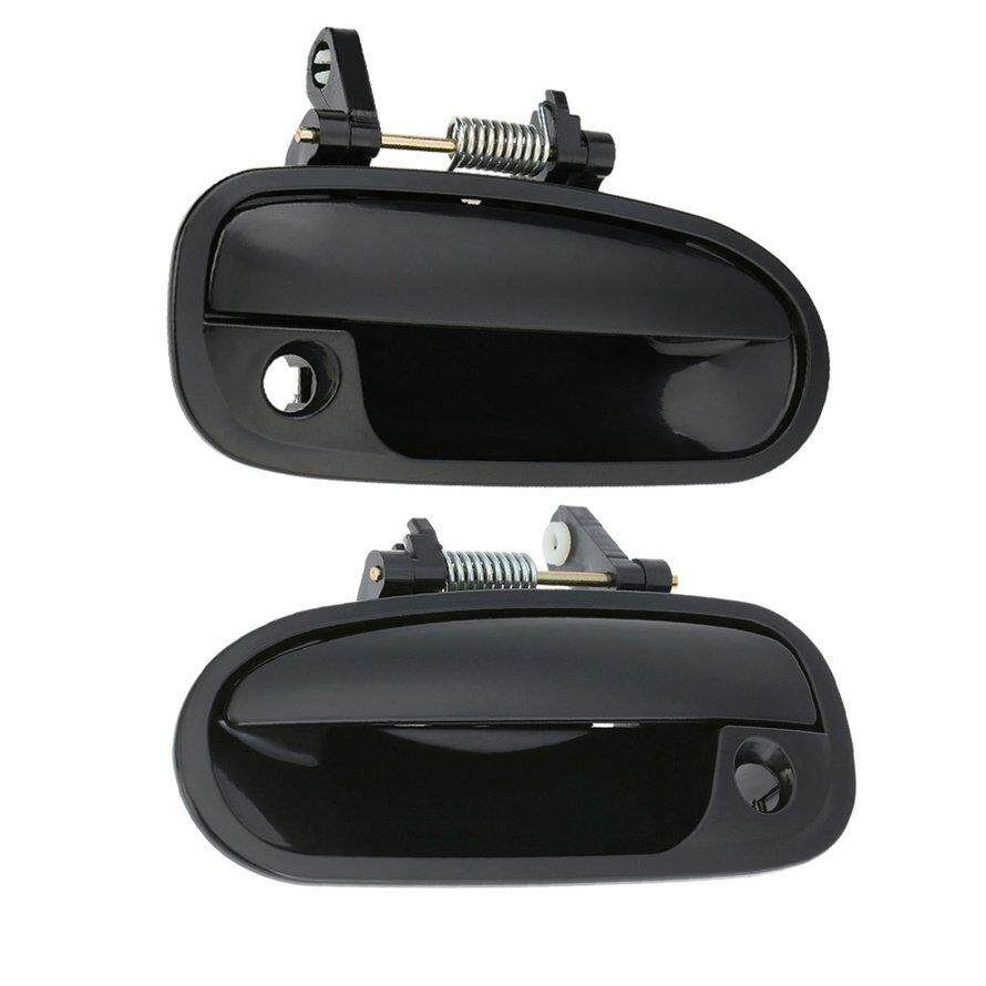 Hot Sale Black Front Outside Exterior Door Handle Passenger Side Right For 96-00 Civic By Six-Moustache.