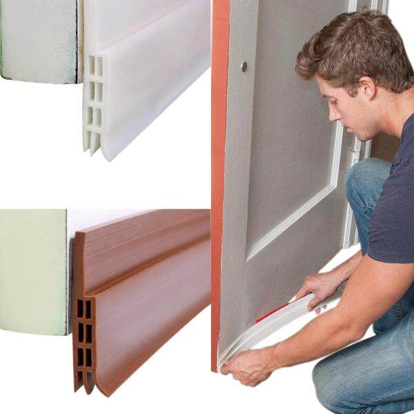 Self-Adhesive Silicone Sweep Weather Stripping Under Door Draft Stopper Rubber Strip Door Block Seal Noise Reduction