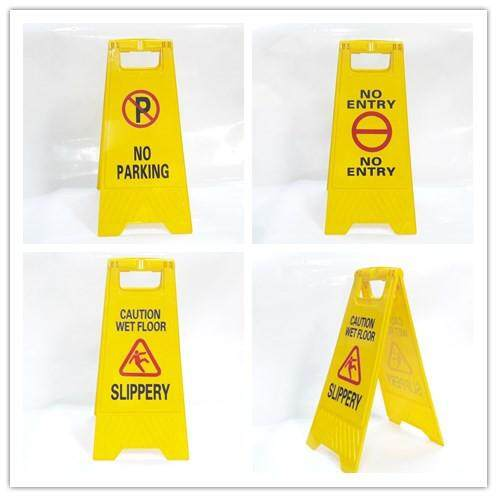 millionhardware - No Smoking , No Parking , Caution Wet Floor Slippery Yellow Stand-up Floor Signs Double Side A-board A Frame Sign Board
