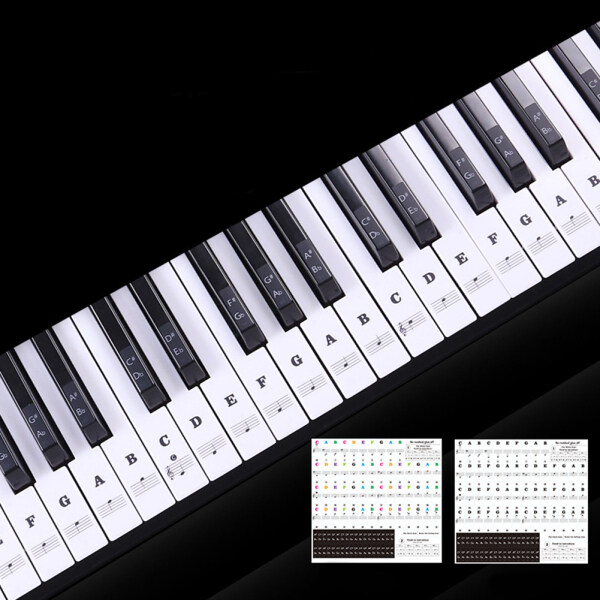 Transparent Piano Keyboard Sticker 88 Keys Electronic Keyboard Piano Sticker [READY STOCK] Malaysia