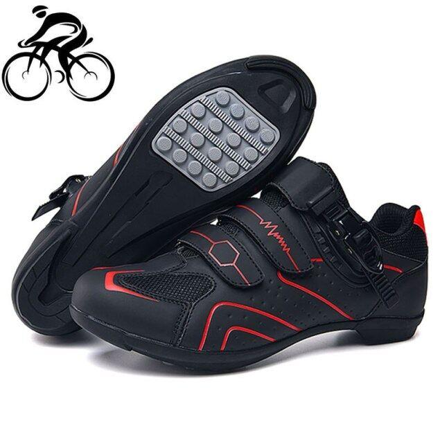 Giày Đạp Xe Leo Núi Ngoài Trời Chuyên Nghiệp Không Khóa, Giày Thể Thao Nữ Giày Thể Thao Đua Xe Đường Trường Chống Trượt Thoáng Khí Màu Đen Cho Nam giá rẻ