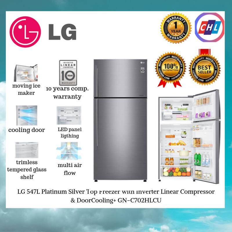 LG Top Freezer with Inverter Linear Compressor GN-C702HLCU