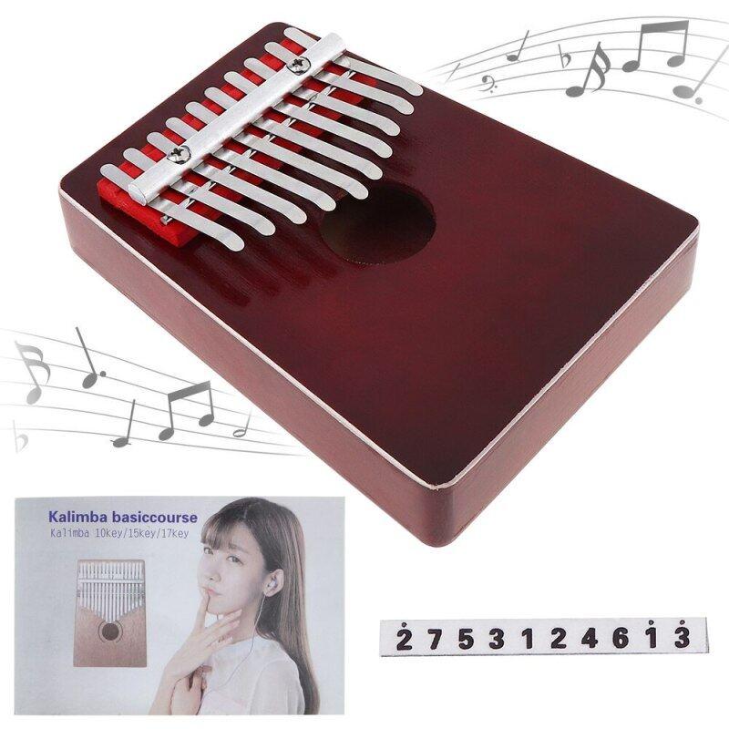 10 Keys Finger Kalimba High Quality Mbira Thumb Piano Pocket Size Metal Keyboard Pine Wood Portable Musical Instrument Malaysia