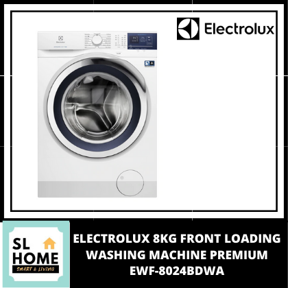 ELECTROLUX 8KG FRONT LOADING WASHING MACHINE PREMIUM EWF-8024BDWA WITH VAPOUR CARE TECHNOLOGY/ TIME MANAGER FOR TIME SAVING / TUB CLEAN FUNCTION