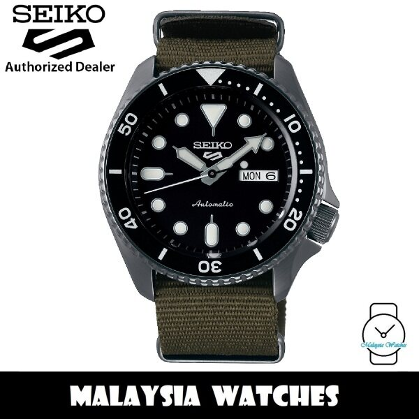 Seiko 5 Sports Superman SRPD65K4 Automatic 100M Black Dial Dark Green Nylon Strap Mens Watch Malaysia