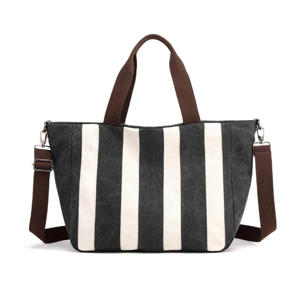 I-Cloud Lady Bags Colorful Striped Canvas Bag Handbag Shoulder Bag Canvas Bag Tote Bag