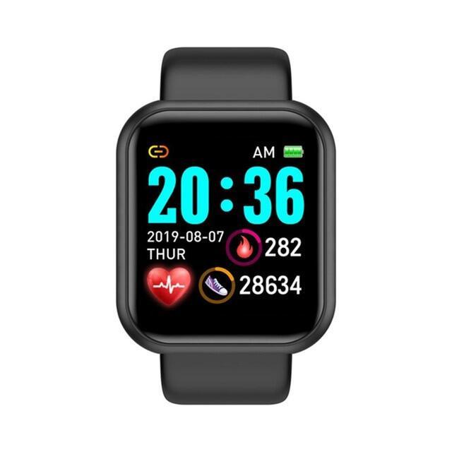 2020 Y68 Thông Minh Đồng Hồ, Vòng Tay Theo Dõi Sức Khỏe Huyết Áp Cho Nam Nữ Thông Minh Đồng Hồ D20 Không Thấm Nước Thể Thao Smartwatch , Android IOS