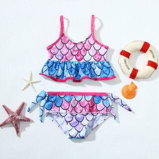 RIO MALL Đồ Bơi Nàng Tiên Cá Hai Mảnh Cho Bé Gái Trẻ Tập Đi Bộ Đồ Tắm Đồ Bơi Trẻ Em Áo Tắm Cho Bé Gái Bộ Đồ Bơi Hoạt Hình Cho Trẻ Em Bé Gái Bộ Bikini Trẻ Em, Màu Hồng thumbnail